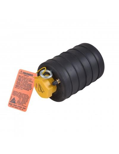 """Obturador Neumático 6"""" Con Bypass De 1 1/2"""" Hembra Con Rango De Uso (mm) : 144-159"""