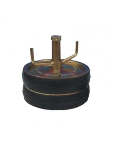 """Tapón Mecánico Doble Acero 16"""" - 400mm Con Bypass 1"""" Con Rango De Uso (mm) : 390-430"""