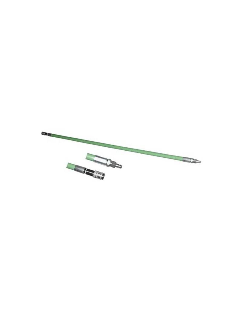 Varilla de inflado 2,0m Flexible (Verde)con acople de seguridad NW 7.2. Diam. 20mm